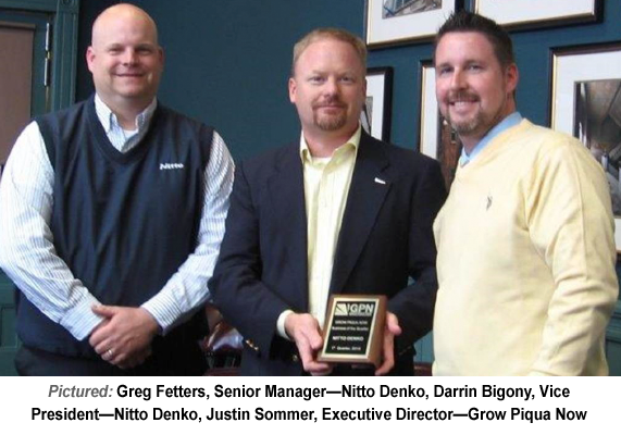 "Nitto Denko Awarded GPN ""Business of the Quarter"""